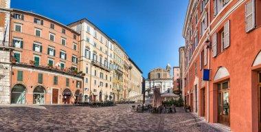 Panoramic view of the Piazza del Plebiscito , Ancona, Italy.