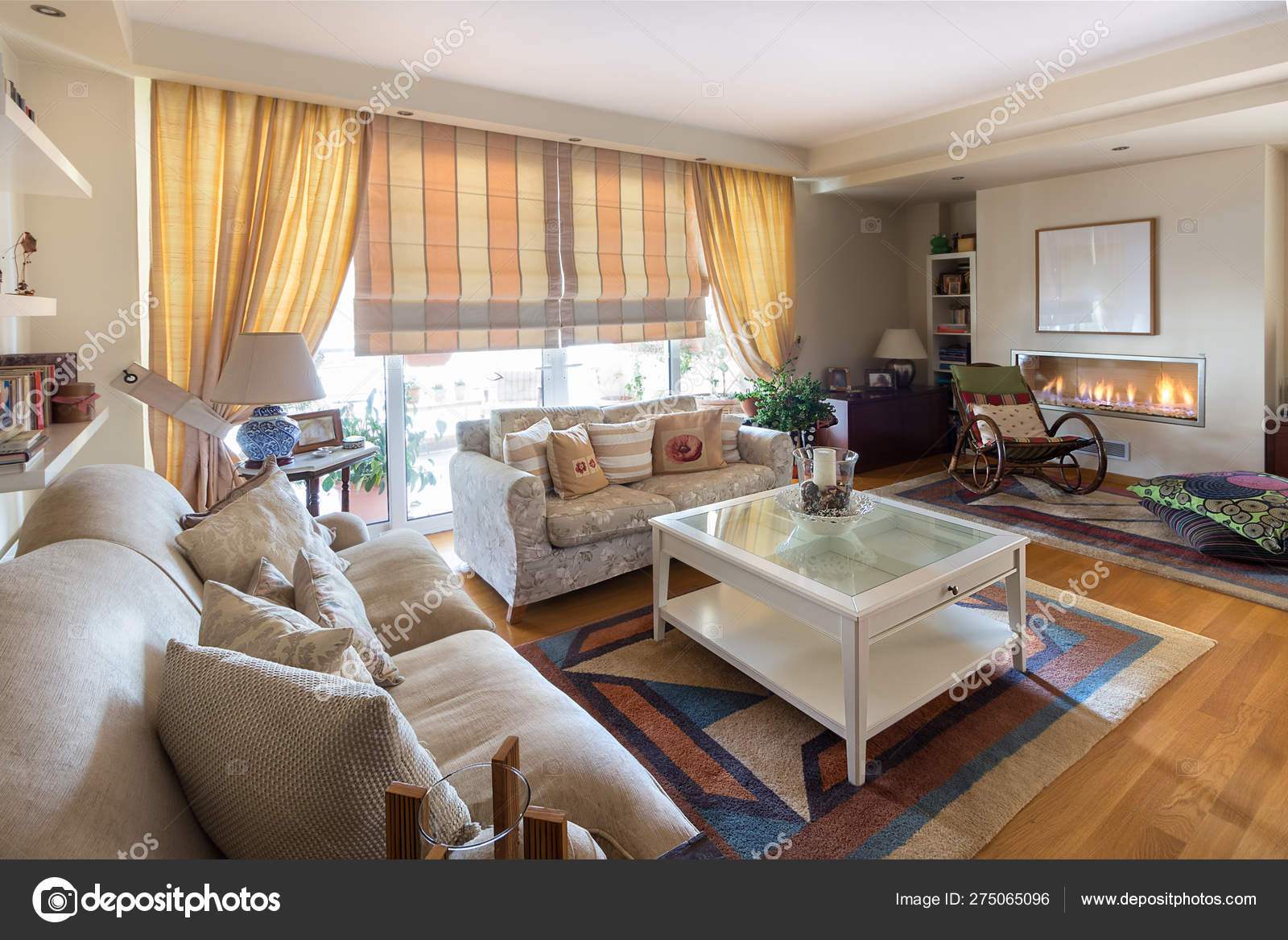Miraculous Warm Contemporary Style Living Room With Two Sofas On An Oak Dailytribune Chair Design For Home Dailytribuneorg