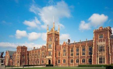 Belfast, Northern Ireland, UK - July 31, 2019 Panoramic view of the Queen's University of Belfast, Northern Ireland, UK.