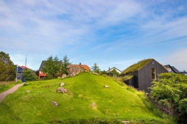 The Vidarlundin Park in Torshavn, Faroe Islands.