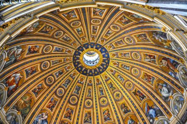 Vatican - August 2017: Impressive dome of St Peter's cathedral