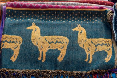 Fabrics and crafts Cajamarca Peru stock vector