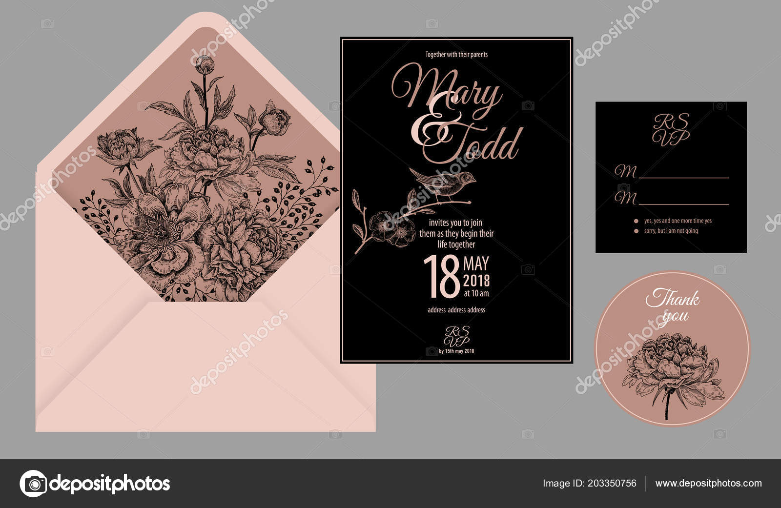 Wedding Invitation Cards Cover Invite Thank You Rsvp