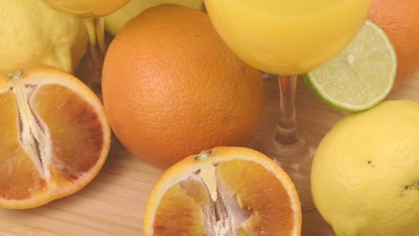 colorful citrus fruits and refreshing fruit juice