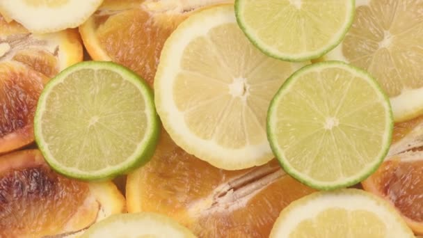 beautiful macro of colorful citrus fruit