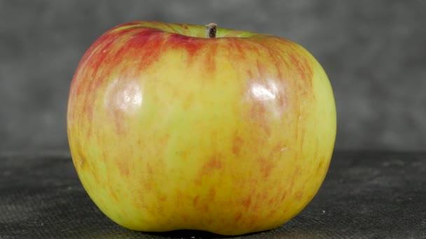 krásné červené a žluté jablko otočit