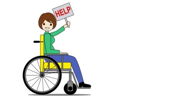 usměvavá mladá žena na invalidním vozíku