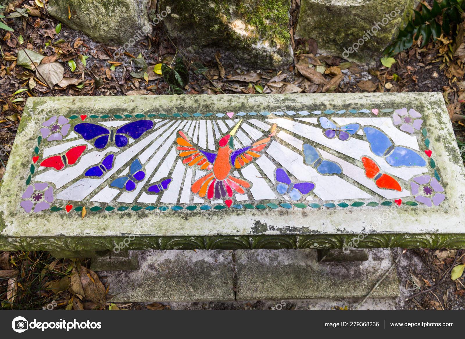 Peachy Mosaic Bench Stock Photo C Photorob 279368236 Inzonedesignstudio Interior Chair Design Inzonedesignstudiocom