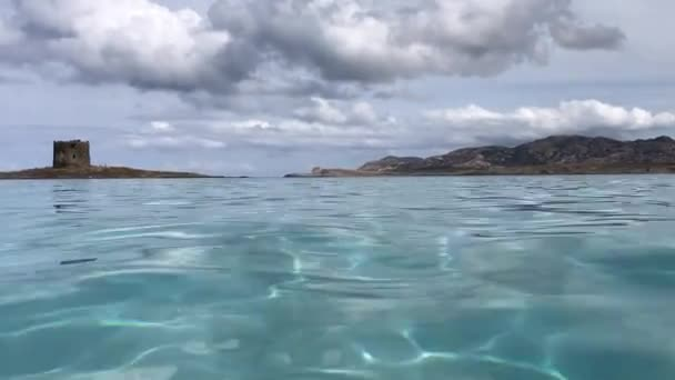 Floating in the water in Sardinia