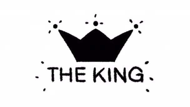 Hand drawn king crown animation with alpha channel, motion graphics.