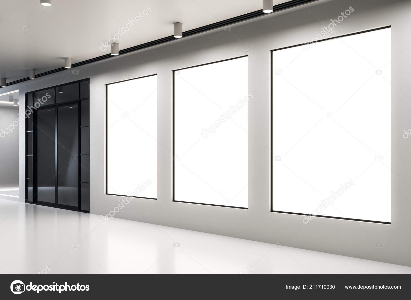 Leere plakat modernen konkrete interieur galerie und museum