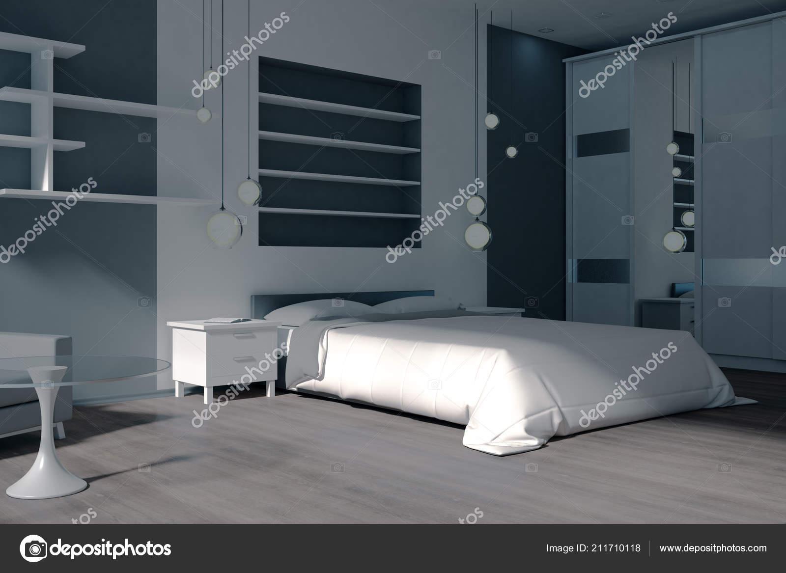 Moderne Schlafzimmer Einrichtung Mit Mobeln Und Sonnenlicht