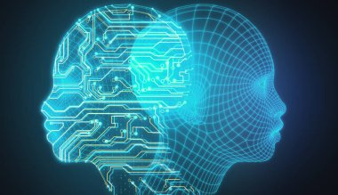 Artificial intelligence and data concept