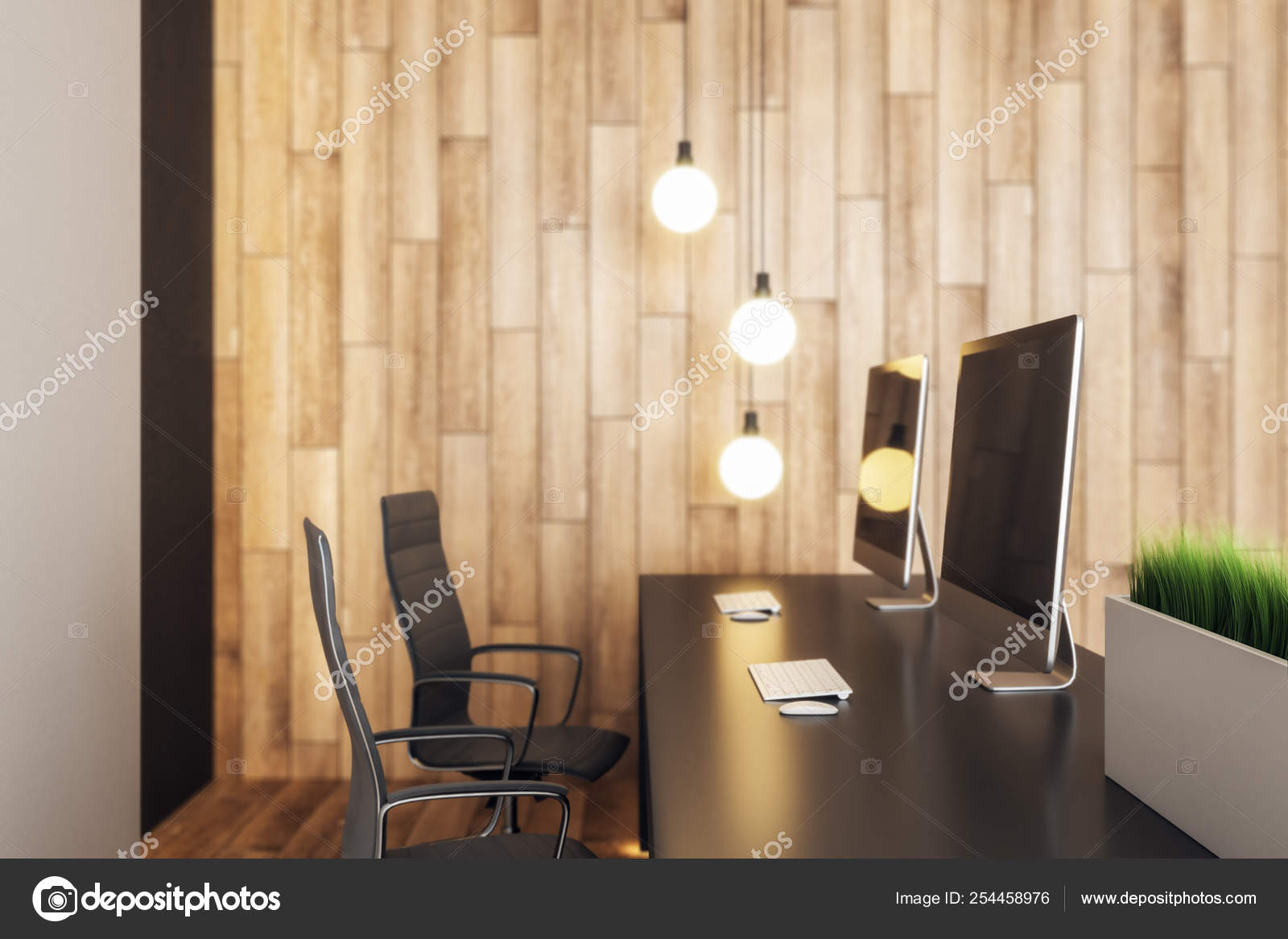 Modern Reception Desk Stock Photo C Peshkov 254458976