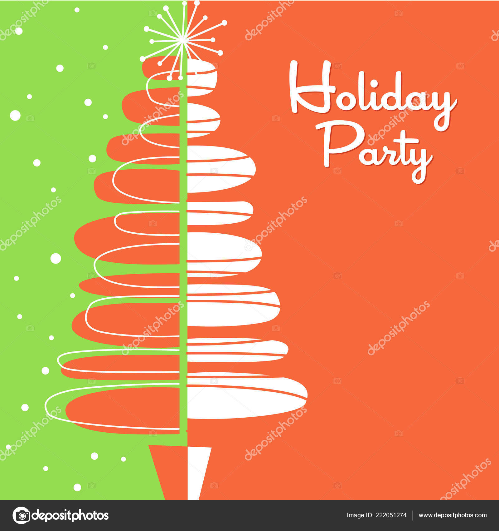 Vacaciones Tarjetas Felicitación Invitación Con Diseño árbol
