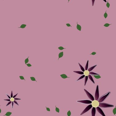 beautiful floral seamless background, vector illustration