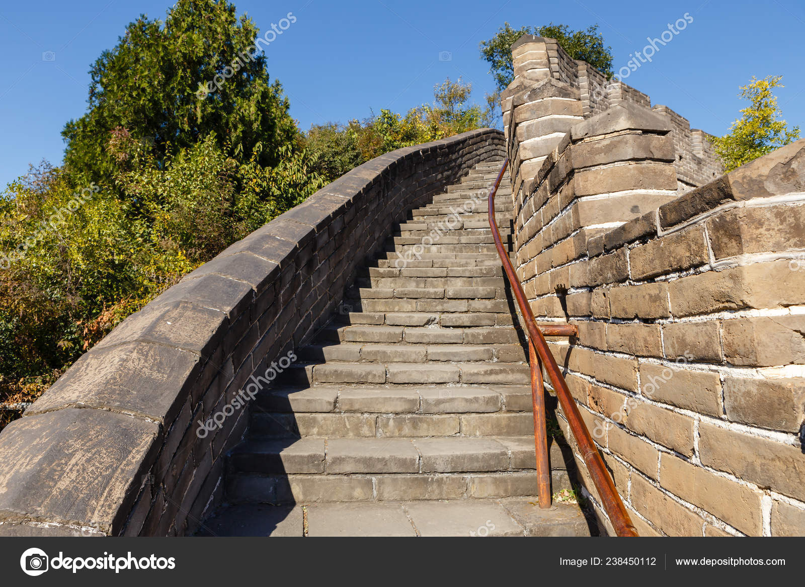 Steep Stairs Great Wall China — Stock Photo © Mieszko9