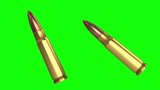 AK-47-es forgó lőszer zöld alapon