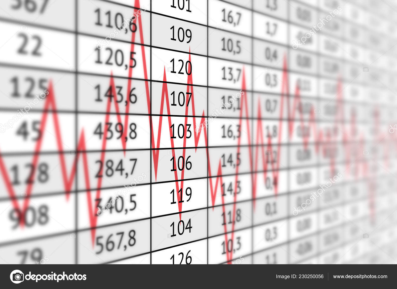 Brilliant Table Lot Numerical Data Red Graph Line Business Information Download Free Architecture Designs Scobabritishbridgeorg