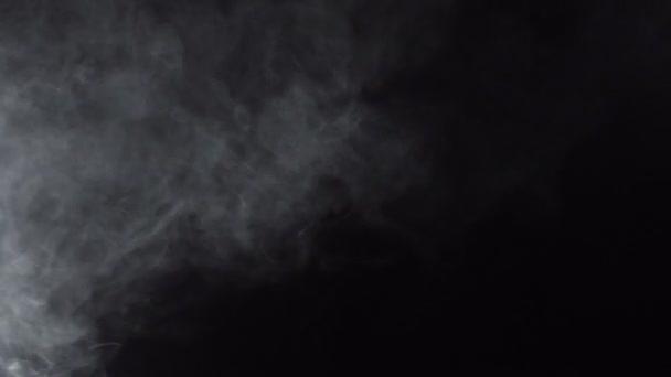 Kouřový bílý oblak e-cigarety, 4k