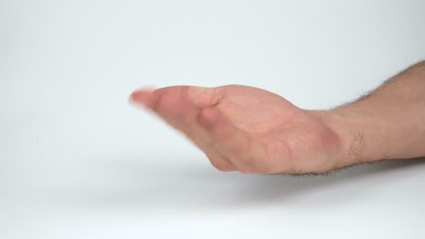 Mans volající ruka