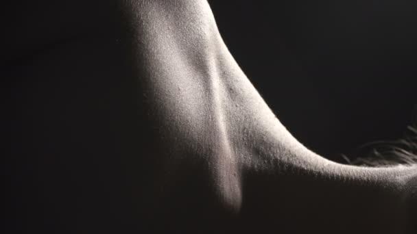 Video von Hals mit Arterie, Nahaufnahme