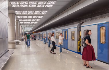Moscow. August 30, 2018. The first day of the new metro station