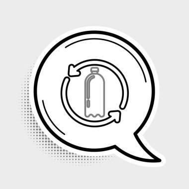 Line Recycling plastic bottle icon isolated on grey background. Colorful outline concept. Vector. icon