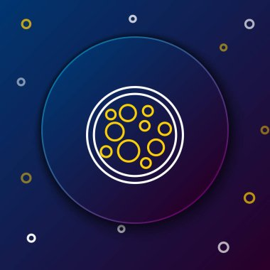 Line Virus icon isolated on blue background. Corona virus 2019-nCoV. Bacteria and germs, cell cancer, microbe, fungi. Colorful outline concept. Vector. icon