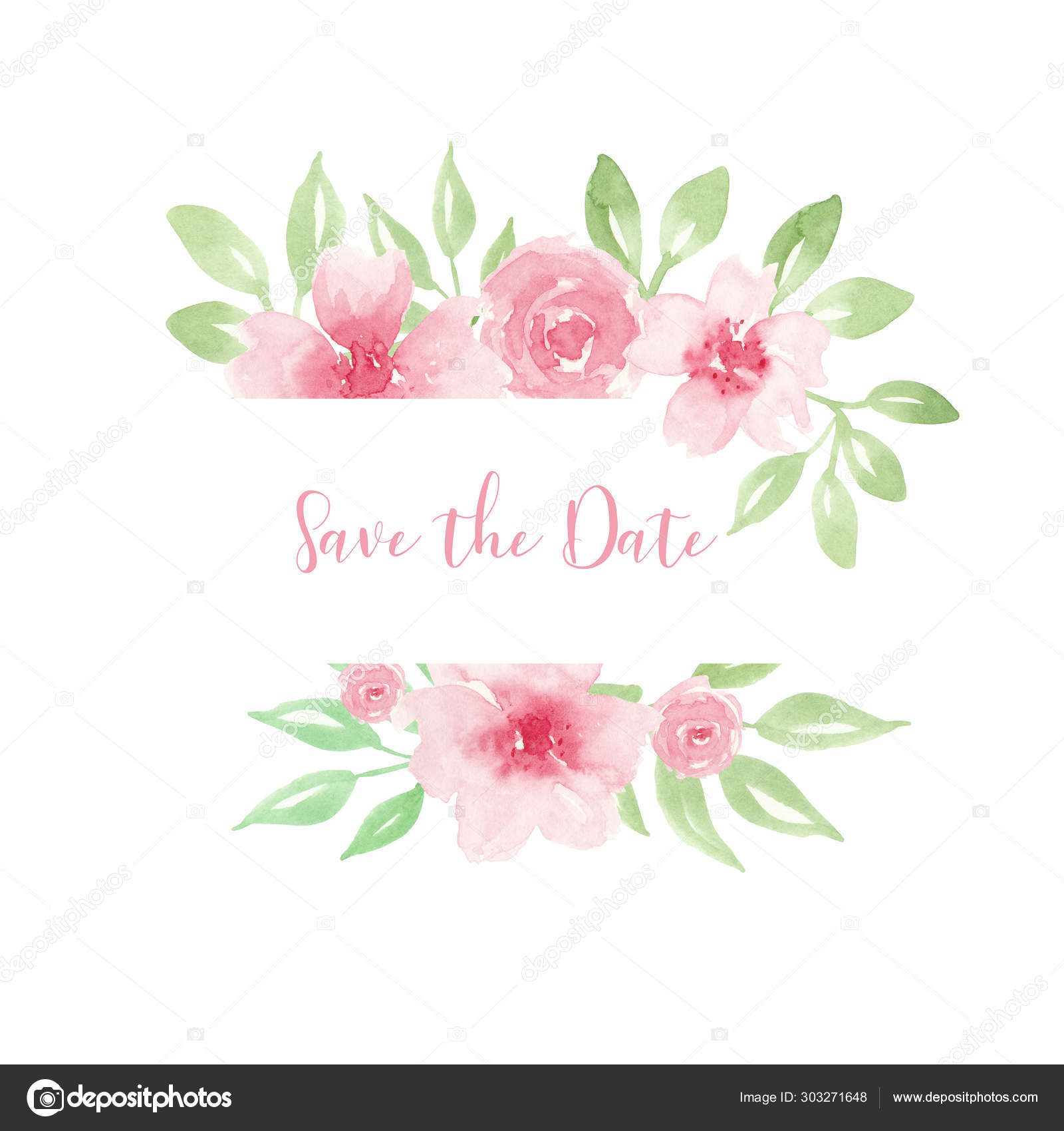 Wedding Invitation Save The Date Card Design With Light