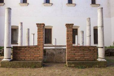 Roman peristylium ruins at Convent of San Antonio, Almendralejo, Badajoz, Spain