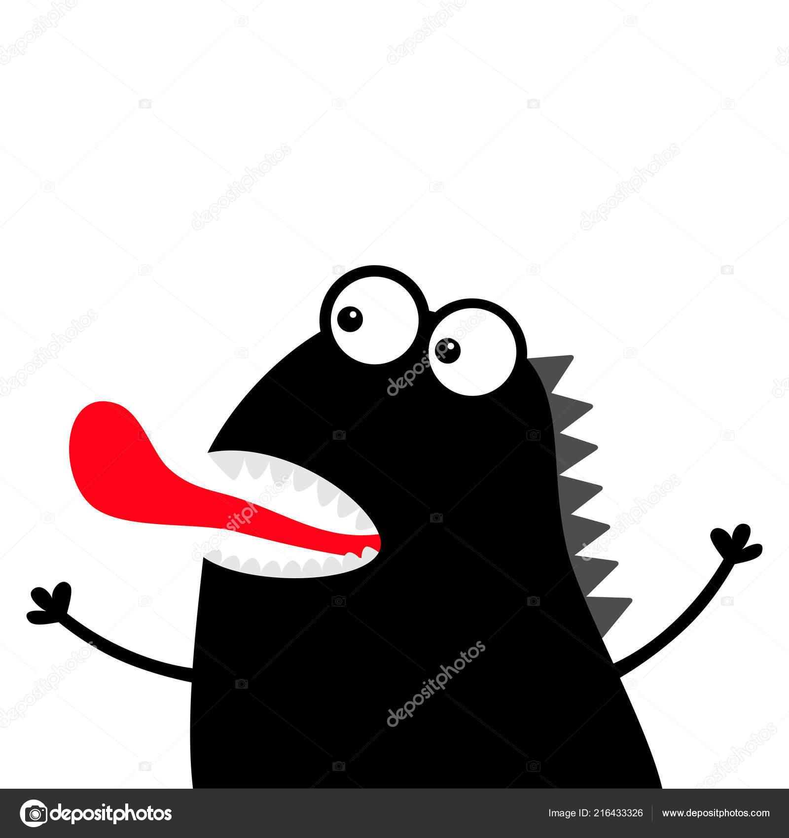 černé monstrum ptáky