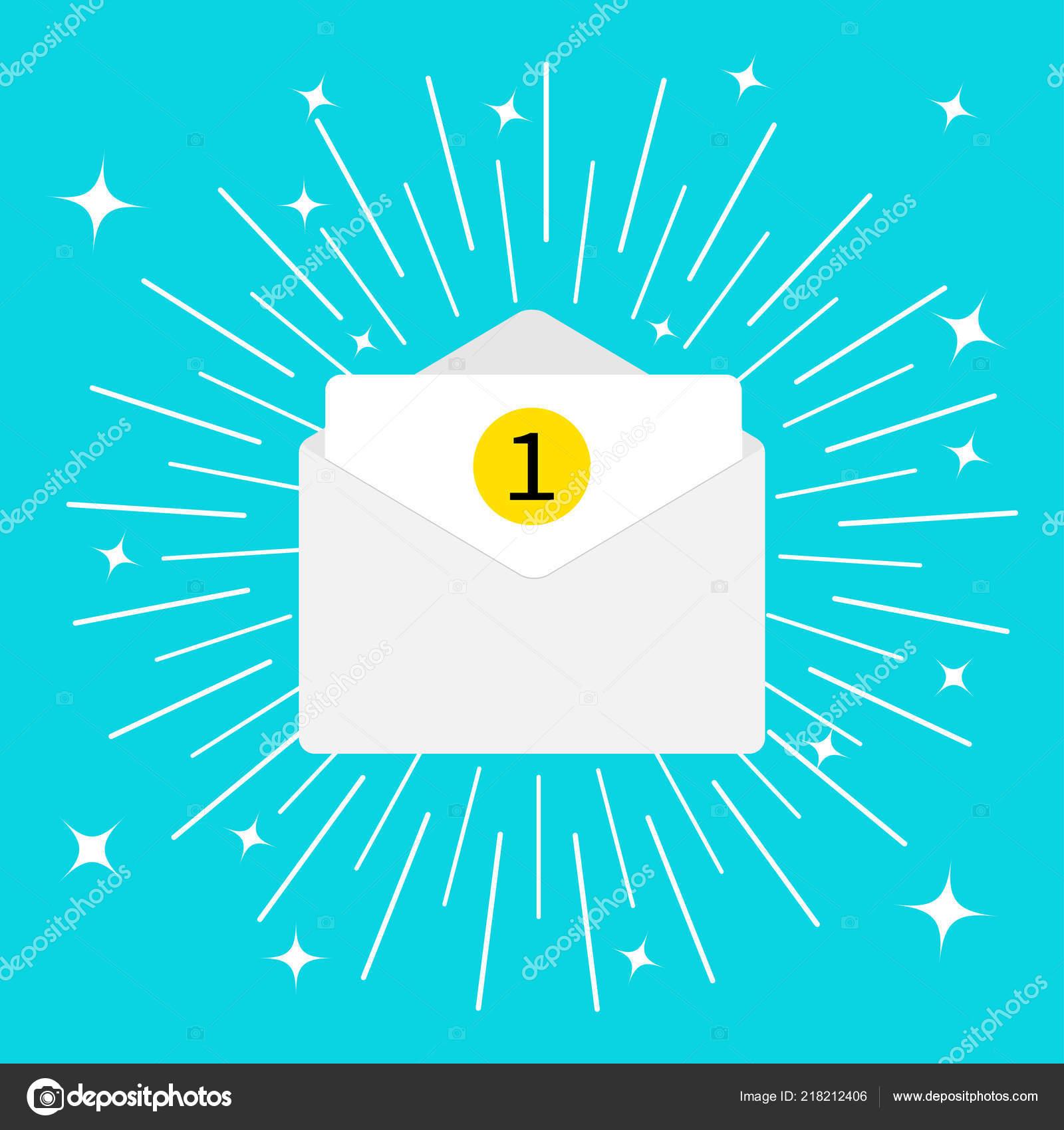 Ungelesene Mail Benachrichtigung Mit Nummer Marker Mail Symbol