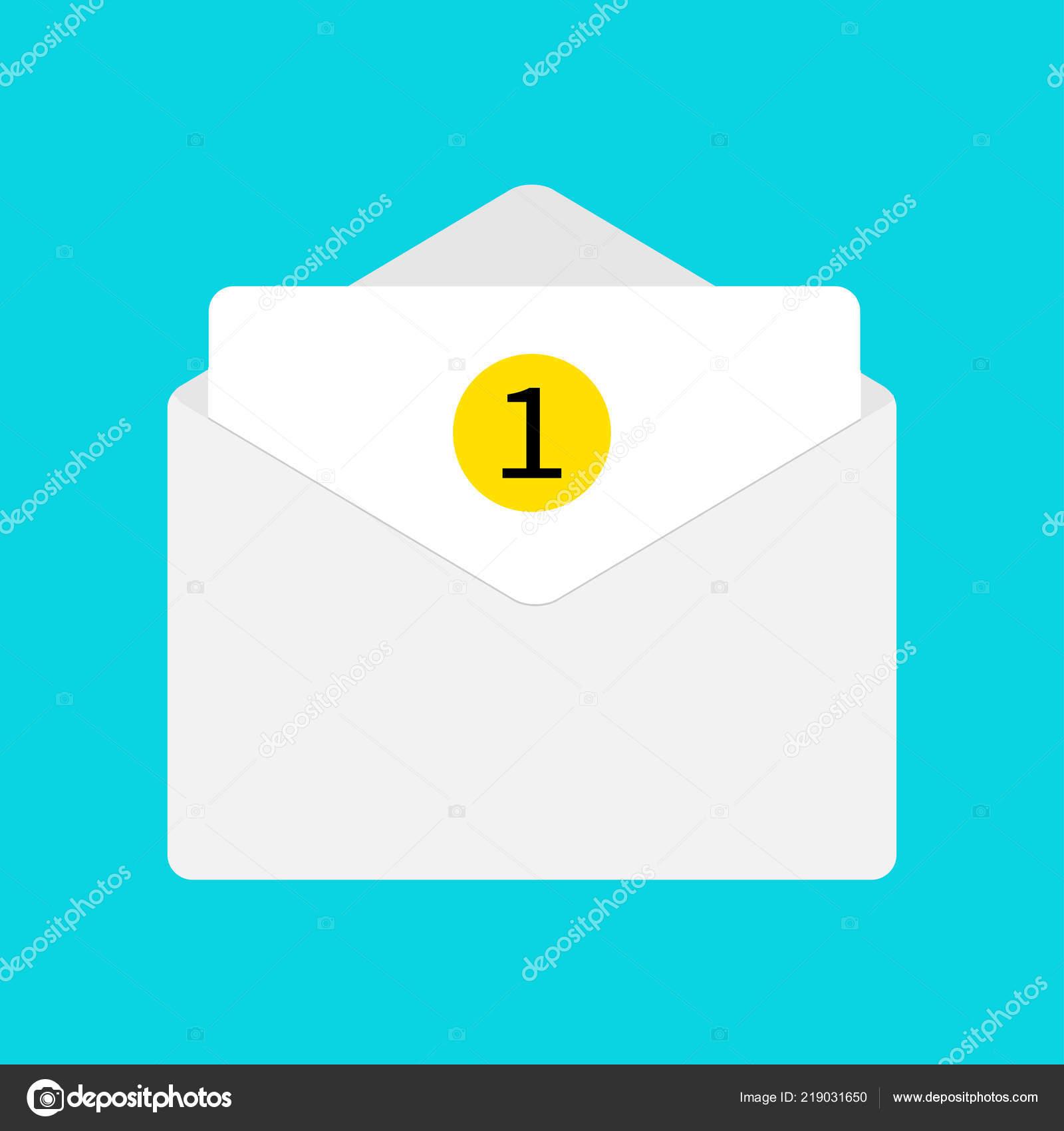 Mail Symbol White Paper Umschlag Offener Brief Vorlage Neue