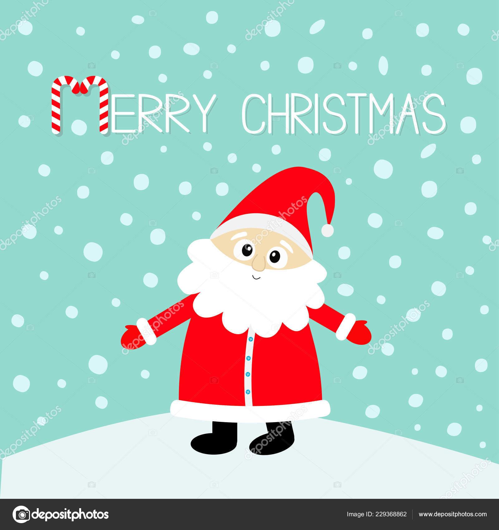 Joyeux Noël Canne Bonbon Père Noël Rouge Chapeau Costume