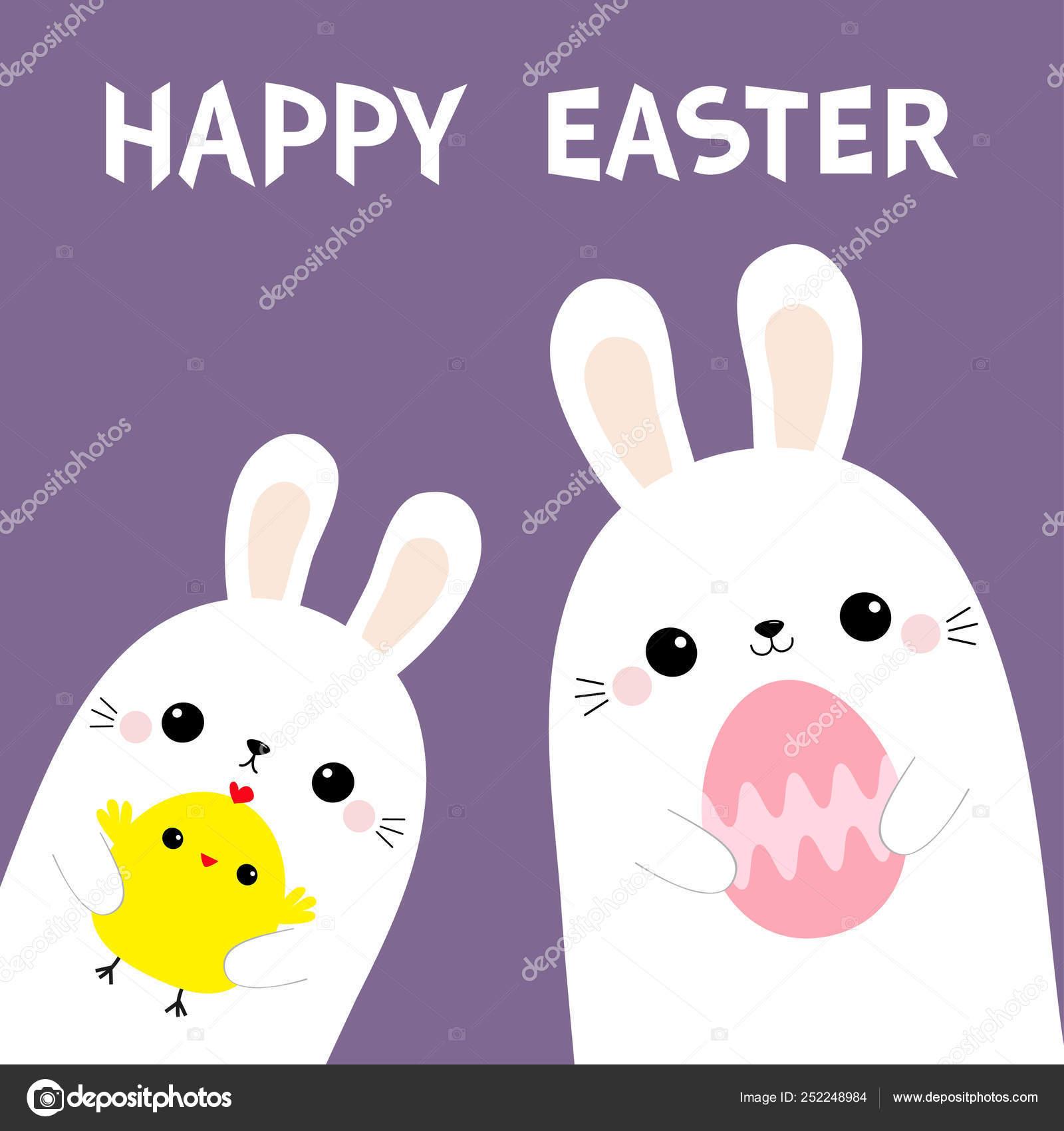 Mutlu Paskalyalar Iki Tavsan Tavsan Arkadaslar Tutan Yumurta