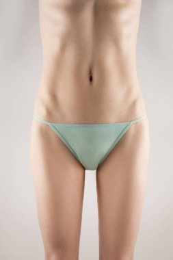 The Girl with perfect body in turquoise underwear