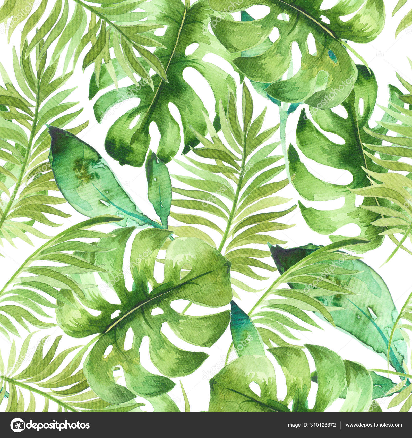 Watercolor Seamless Pattern Beautiful Tropical Exotic Leaves Best Background Wallpaper Stock Photo C Dervik 310128872 Great savings & free delivery / collection on many items. depositphotos