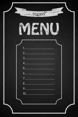 Restaurant menu frame blackboard hand drawn vintage label vector eps10