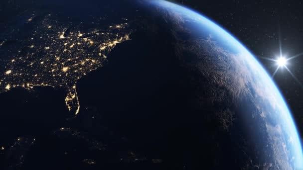 Usa viděno z vesmíru 4k