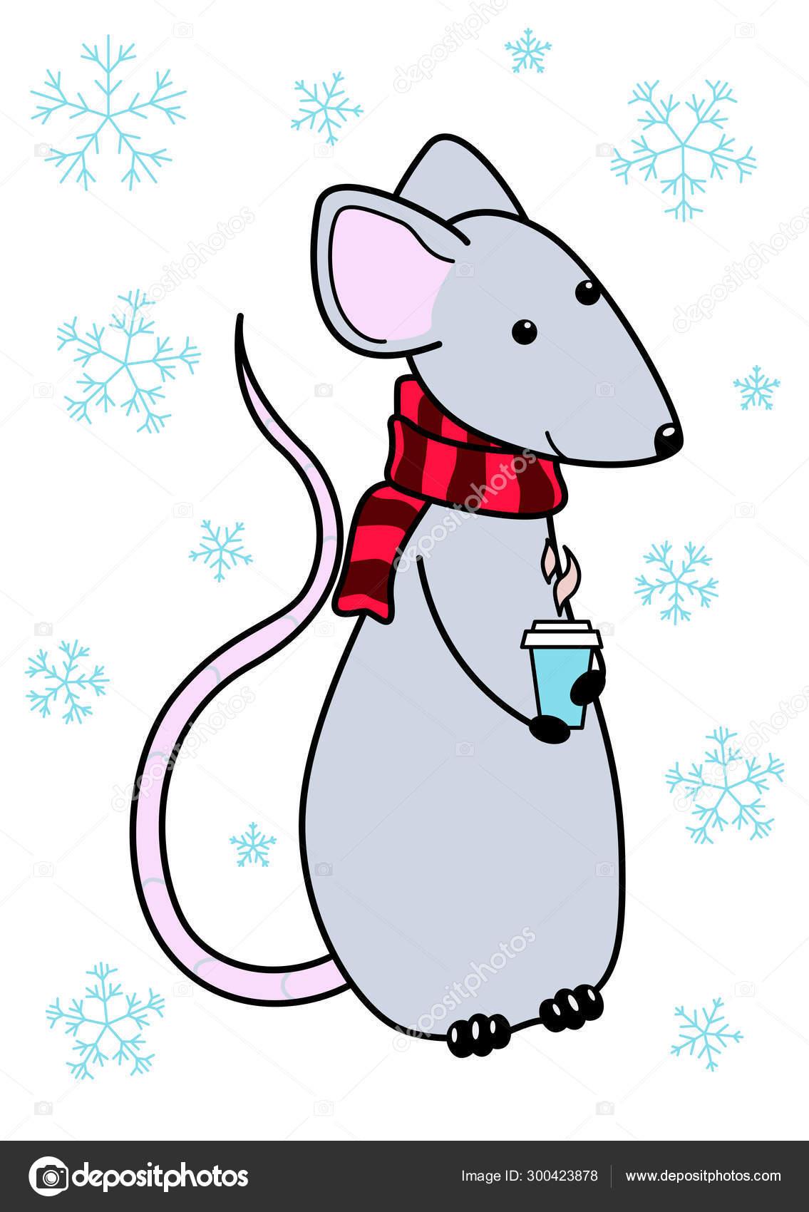 Картинки с крысами на новый год нарисованные