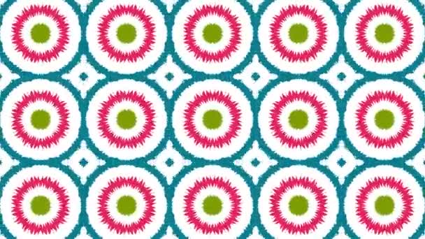 Kaleidoscope sequence patterns. 4k. Abstract multicolored motion graphics background. Seamless loop. Beautiful bright ornament. Or for yoga, clubs, shows, mandala, fractal animation.