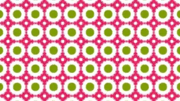 Kaleidoskop patternů sekvence. Abstraktní barevné pohybu grafiky pozadí. VJ bezešvé smyčka. Krásné světlé ornament. Nebo pro jógu, kluby, ukazuje, mandaly, fraktální animace