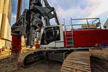 Construction in Toronto Downrtown. excavator