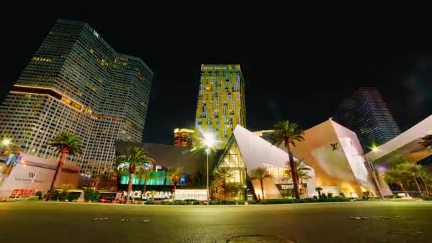 Las Vegas Strip Timelapse of Night Traffic Light Trails and Illumination