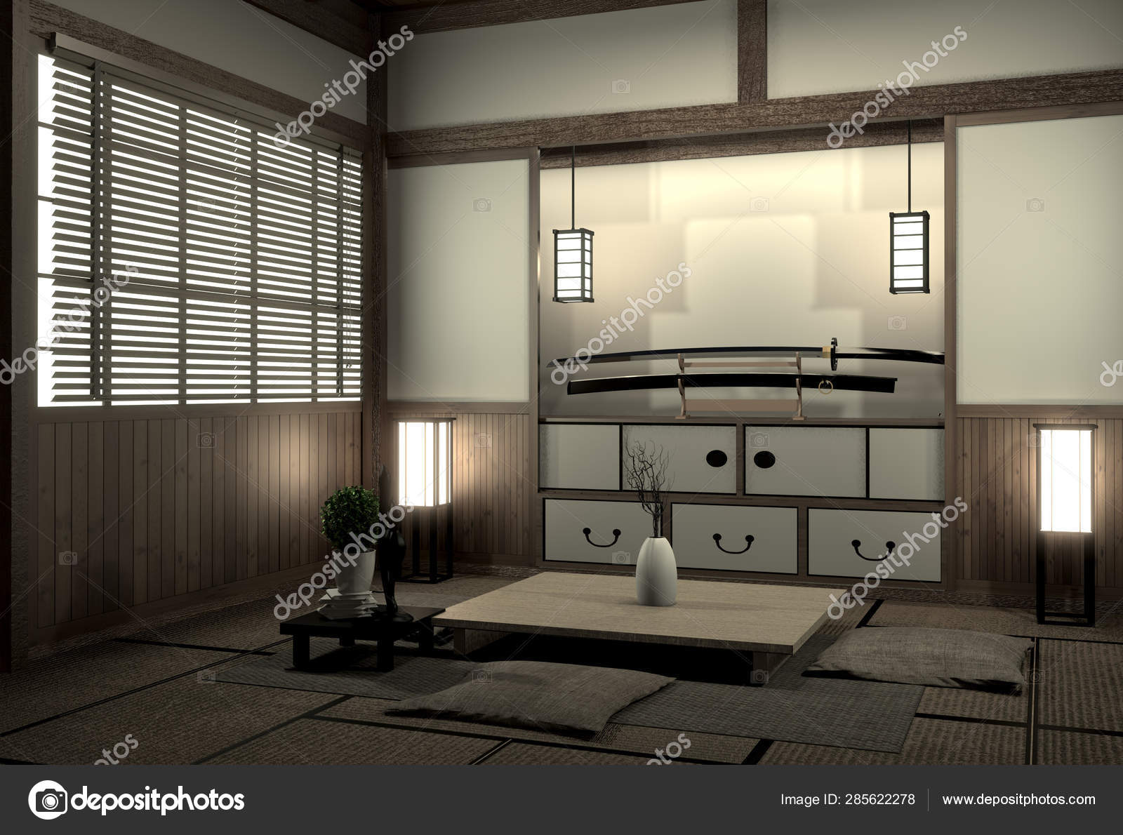 Living Room Interior Design With Cabinet In Shelf Wall Design An Stock Photo C Minny0012011 Gmail Com 285622278