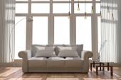 Wohnzimmereinrichtung - skandinavischer Stil. 3D-Darstellung