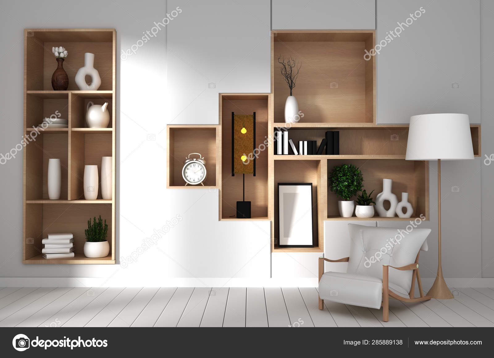 Japan White Room Interior Design White Living Room 3d Illustrat Stock Photo C Minny0012011 Gmail Com 285889138