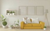 titulní obraz obytně obývací pokoj se žlutou pohovkou na