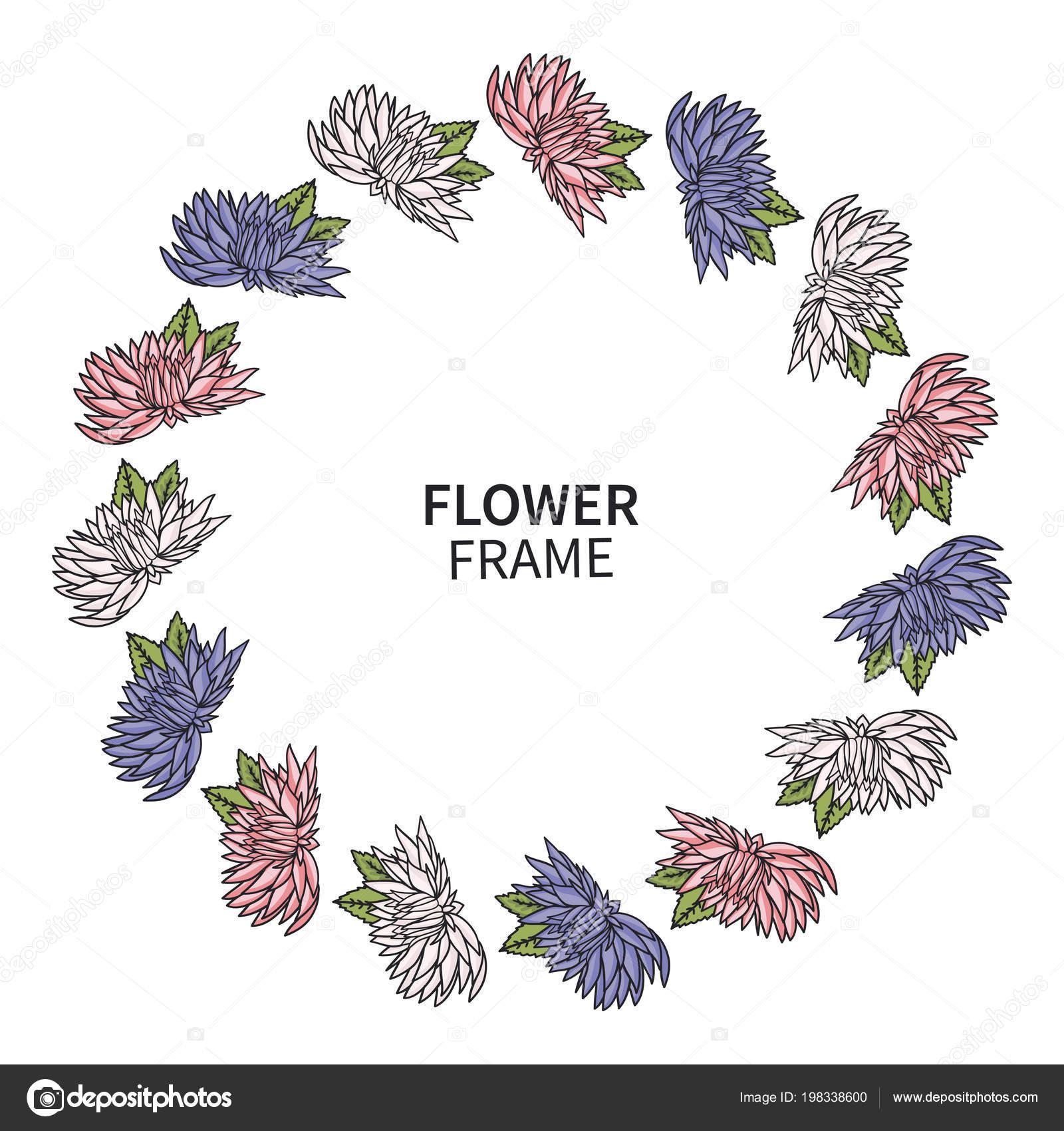 Tema Floral Para Imprimir Marco De Flores De Crisantemo